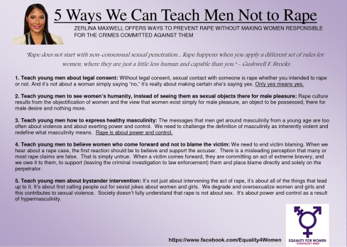 Teach Men Not to Rape