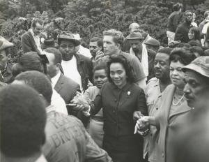 """Coretta Scott King leading a march of """"Welfare Mothers""""  in 1968"""