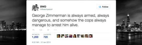 Zimmerman Always Arrested Alive