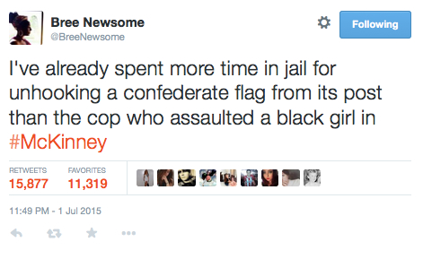 Bree Newsome Tweet